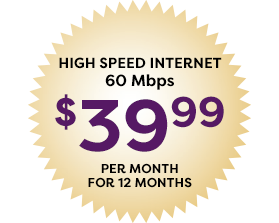 60Mbps for 39.99 per month